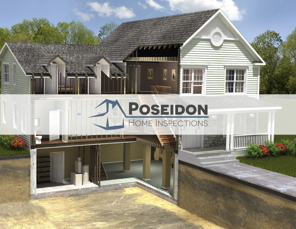 Poseidon Home Inspections Logo Design