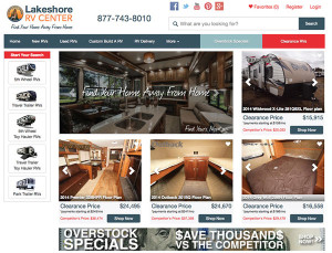 RV Dealership Website Design