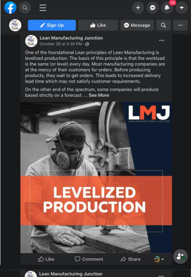 Lean Manufacturing Social Media
