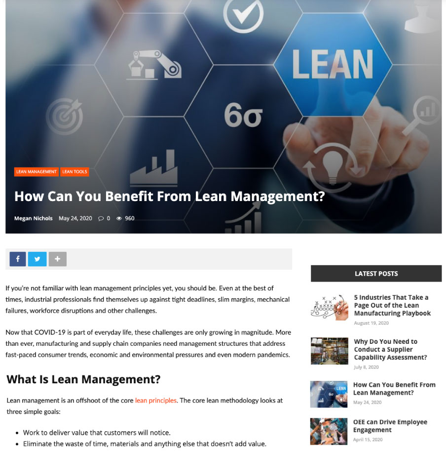 Lean Manufacturing blog